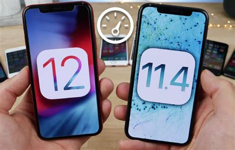 ios 12 vs ios 11 speed test comparison