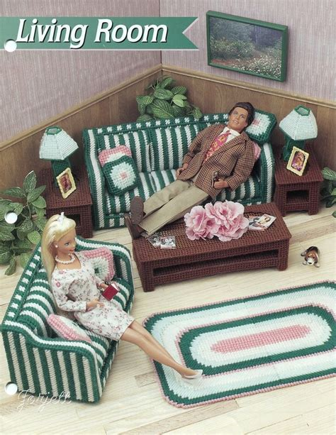 living room patterns living room furniture set s plastic canvas patterns fit dolls ebay