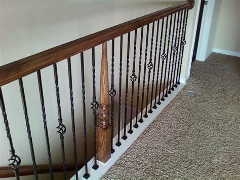 Metal Stair Banisters by Wrought Iron Stair Balusters Newsonair Org