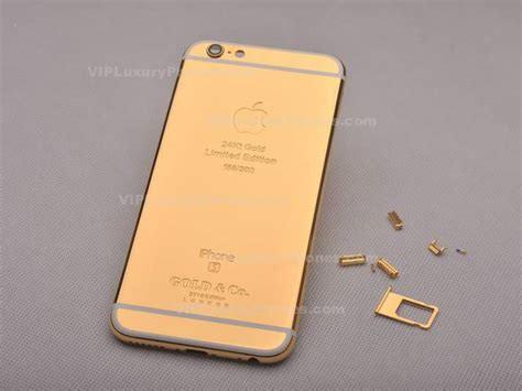 limited edition  gold coating iphone  cover