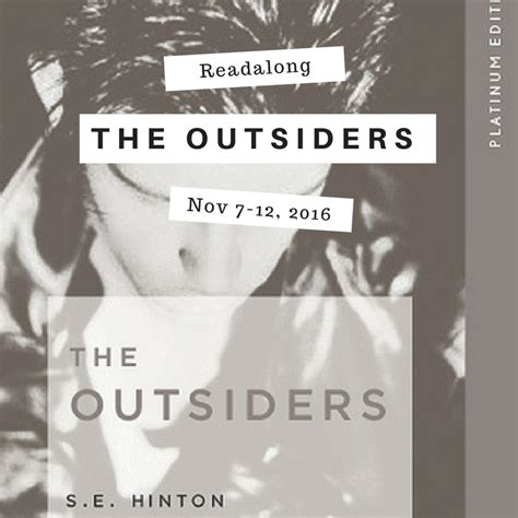 we do things differently the outsiders rebooting our world books readalong blogalong the outsiders by se hinton