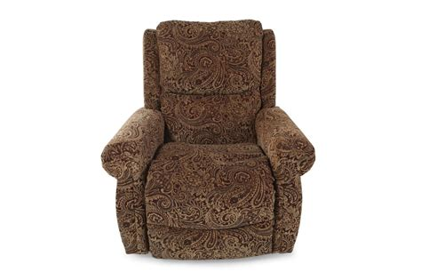 patterned recliner tapestry patterned 37 quot rolled arm recliner mathis