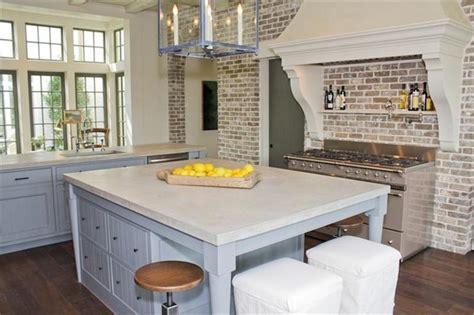 Paint Kitchen Tiles Backsplash by Brick Kitchen Transitional Kitchen Har