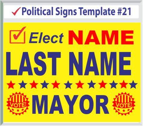 political yard sign template political signs templates