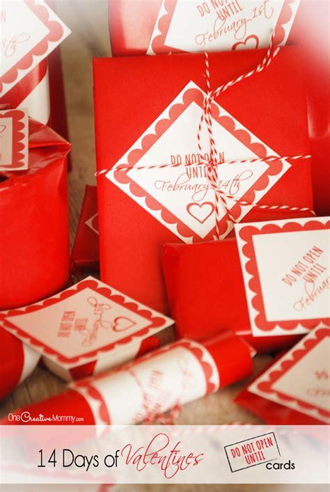 14 days of valentines 14 days of valentines free printables
