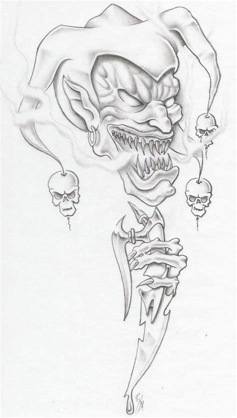 goblin evil clown tattoo idea best tattoo ideas gallery