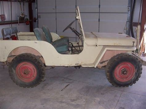 46 Willys Jeep 46 Willys Jeep Cj Coot And 2 Black Labs Jeep