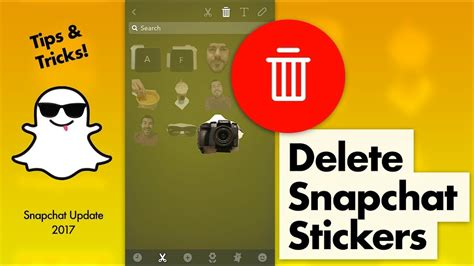 How To Delete Stickers In Snapchat how to delete snapchat stickers