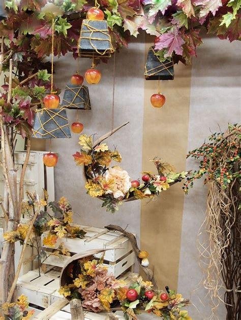 bellissime decorazioni autunnali fai da te  vetrine