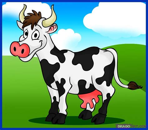 how to a cow how to draw a cow step by step animals animals free drawing