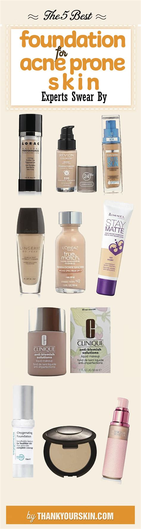 best acne best foundations for acne prone skin 2018 reviews and