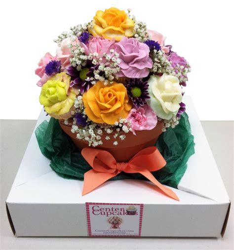 cupcake flower arrangements cupcake flower pot bouquet desserts pinterest
