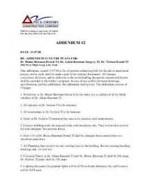 construction addendum template addendum 2 pdf struct con construction ltd