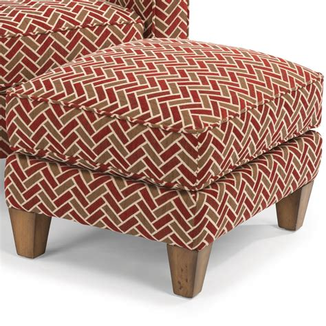 upholstered seat cushions flexsteel macleran upholstered ottoman with reversible