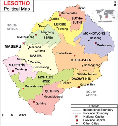lesotho map the kingdom of lesotho embassy in italy facts