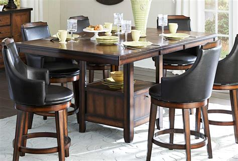 counter height table with swivel chairs bar pub tables sets bayshore 8 pc counter height set