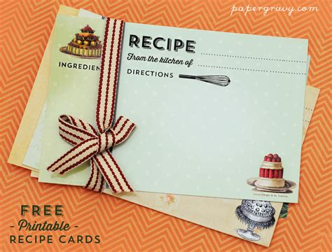 how to make vintage cards printable vintage recipe cards the graphics
