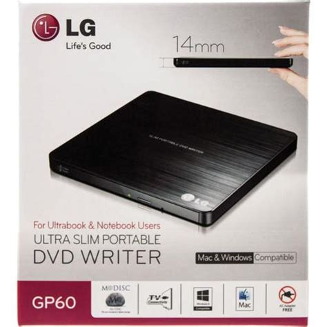 Lg Gp65 External Dvd Rw lg dl dvd 177 rw ultra thin slim portable usb external writer burner gp60nb50 ebay
