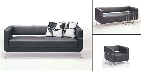 f51 contemporary black leather sofa set black design co