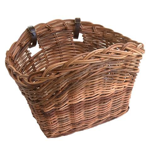 Flower Rattan Bike New Size 28 X 18 Cm classic wicker bicycle basket