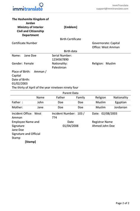 Birth Certificate Translation Template Uscis Copy Legal Document Translations Best Of Birth Uscis Birth Certificate Translation Template