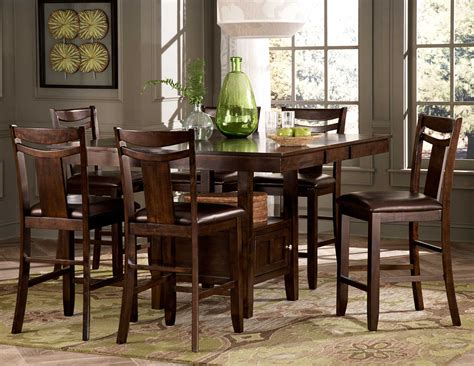 counter height dining room table with storage best