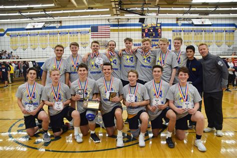 section v boys volleyball rangers win second consecutive boys volleyball section v