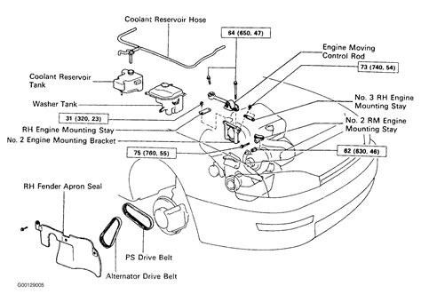 moving engine diagram 1993 toyota camry serpentine belt routing and timing belt