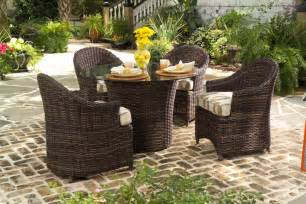 Resin Patio Furniture Sets Wicker Vs Synthetic Resin Wicker