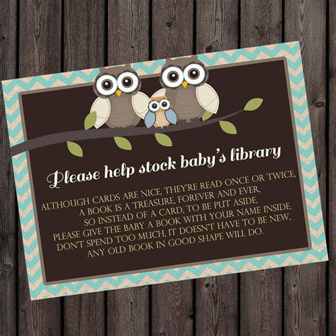what to ask for baby shower gifts bring a book instead of a card insert baby shower