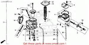 Honda Fourtrax Parts Honda Trx300 Fourtrax 300 1991 M Usa Carburetor