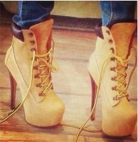 Timberland Boots One Pillow Coklat shoes timberlands high heels lace up booties