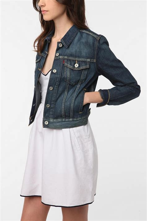 levi s denim trucker jacket rinsed denim
