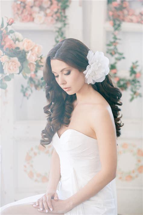 white wedding hairstyles 25 romantic long wedding hairstyles using flowers deer