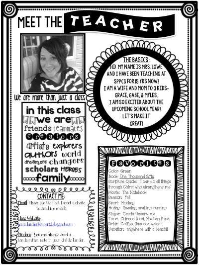 Meet The Teacher Editable Template For Free Https Www Teacherspayteachers Com Store The Meet The Newsletter Templates