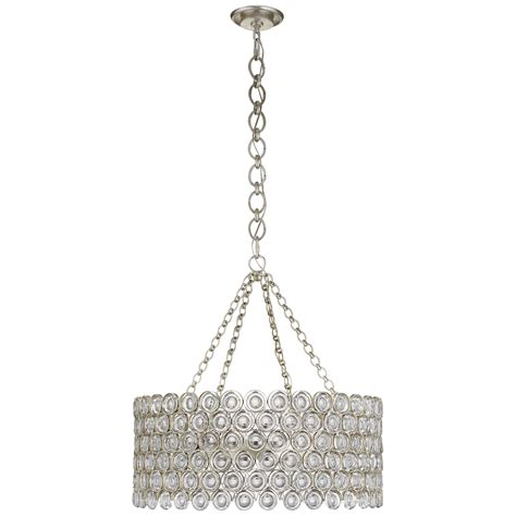 Drum Pendant Chandelier With Crystals loop drum chandelier mecox gardens
