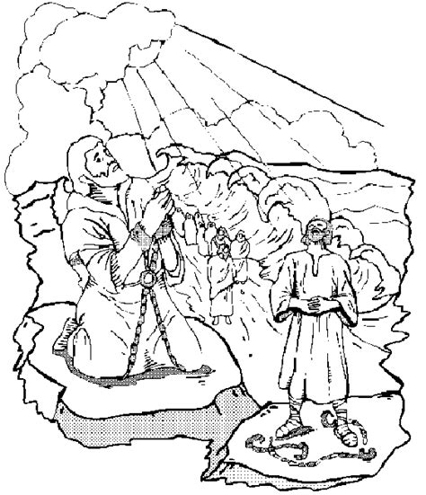 Moses Parting The Red Sea Coloring Pages Parting Of The Sea Coloring Page