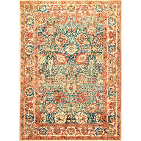 7 ft area rugs nuloom floral lorna beige 5 ft x 7 ft 5 in area rug rzin03a 5075 the home depot