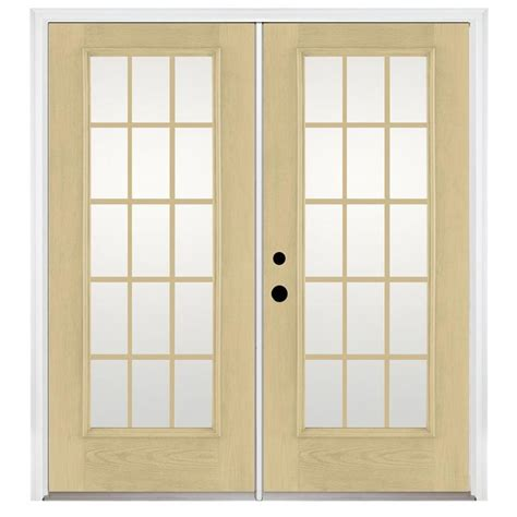 Fiberglass Patio Doors Reviews Shop Benchmark By Therma Tru 70 5625 In 15 Lite Grilles Between The Glass Fiberglass