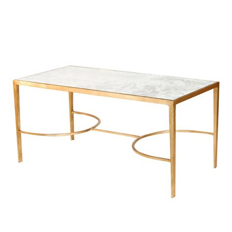 Worlds Away Coffee Table by Worlds Away Gold Leaf Sabre Leg Coffee Table With Antique