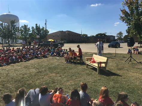 buddy bench the buddy benches are here saint ambrose school