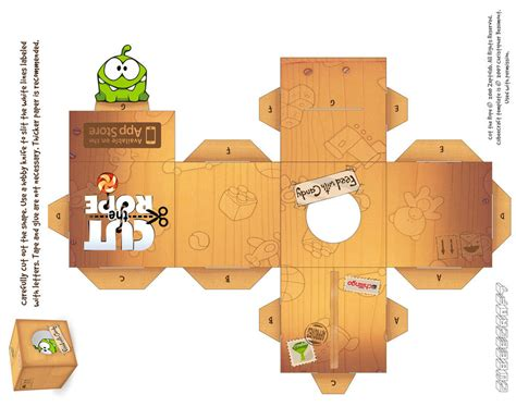 Cube Paper Craft - om nom box cubecraft by rhythm of on deviantart