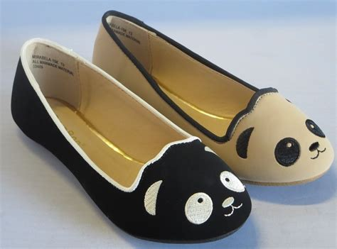 Black Panda Shoes 5 flats panda mira15 youth flower pageant dress shoes black ebay