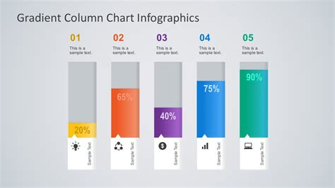 Gradient Column Chart Powerpoint Infographics Slidemodel Powerpoint Chart Design