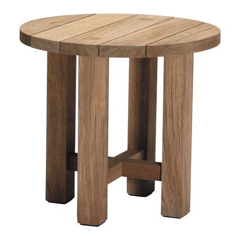 Outside End Tables by Croquet Outdoor Teak End Table