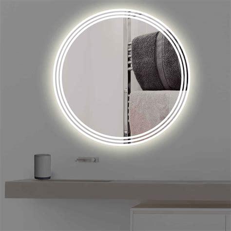 badspiegel rund mit beleuchtung badspiegel mit beleuchtung auf 3 streifen rund r 400