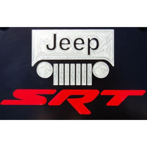Jeep License Plates Jeep Grand Grille Srt Satin Black License Plate