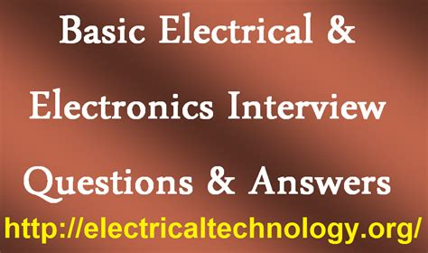 basic electrical electronics questions answers