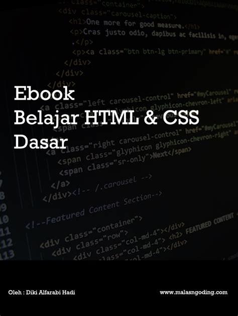 tutorial html dasar download ebook membuat website dengan php dan mysql