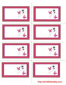 Template To Print Labels free s day labels templates